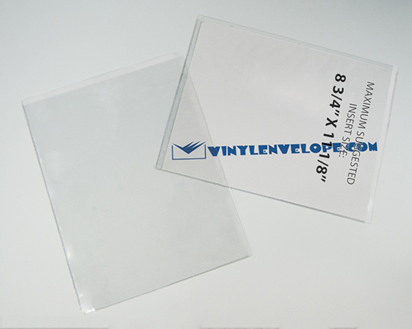 "9"" x 11 1/2"" clear plastic document holder"