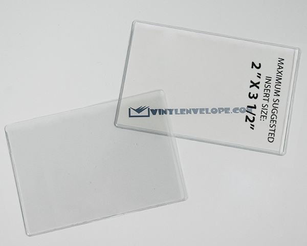 "2 1/4"" x 3 3/4"" clear pouch"