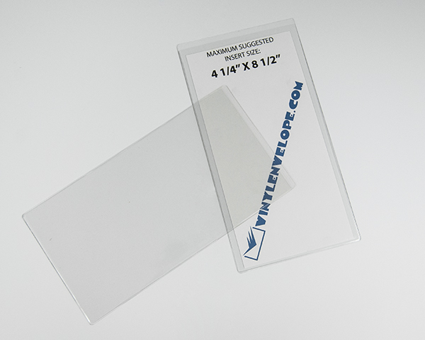 4 3 4 x 9 clear flexible plastic pouch sleeve envelope