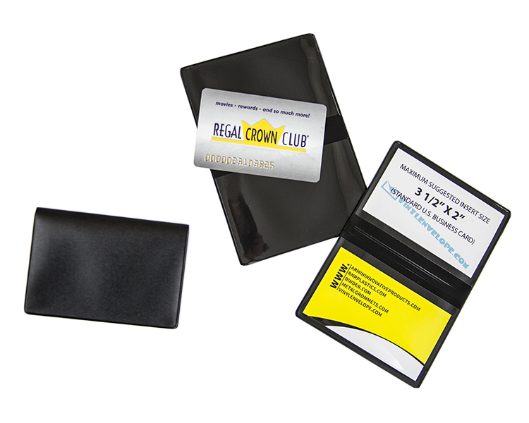 Black business card wallet