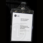 "9"" x 12"" Magna-Hinge hanging protective document holder"