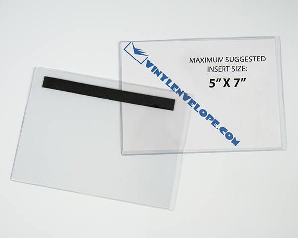 5 1 4 X 7 3 8 Clear 8 Gauge Flexible Vinyl Pouch With
