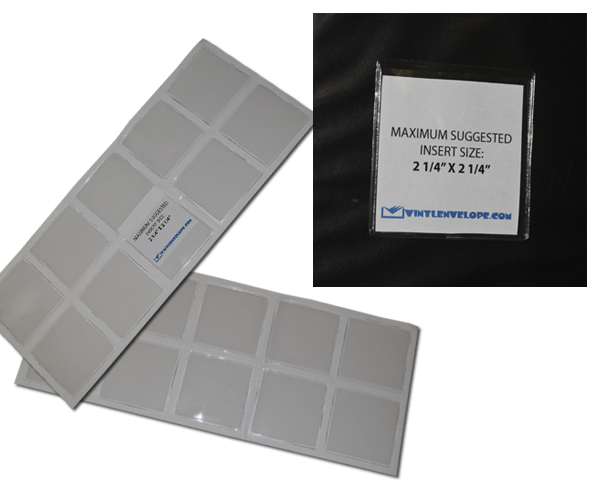 "2 1/2"" X 2 1/2"" Adhesive pouch"