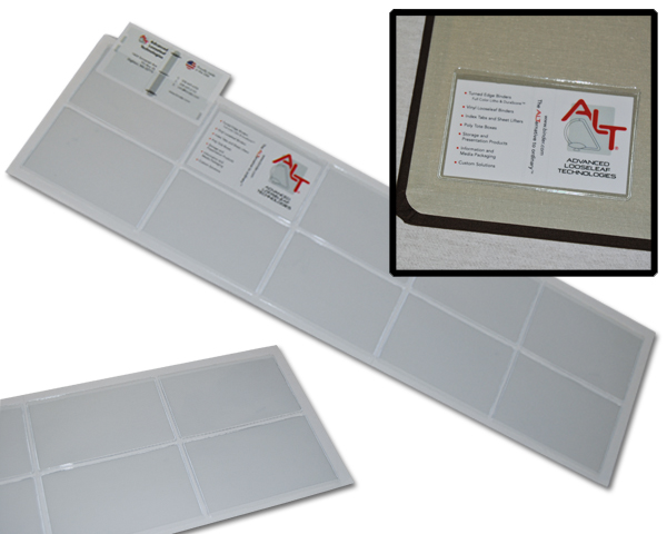 "3 3/4"" x 2 3/8"" press-on adhesive pouch open top (long side)"