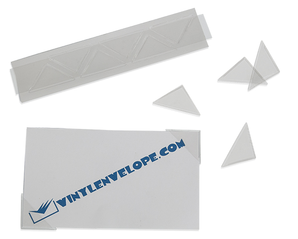 "1 1/2"" x 1 1/2"" Adhesive triangle corner pocket"