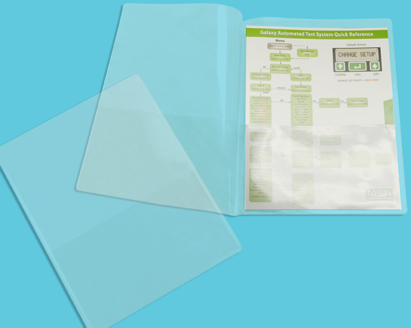 "11 5/8"" x 9 1/8"" Clear Folder with pockets"