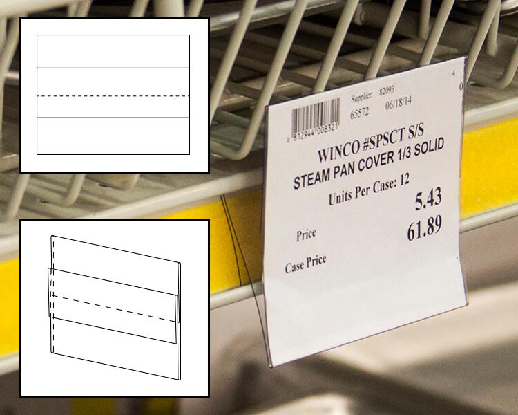 tri fold center mount shelf channel sign holder 1 9 sheet