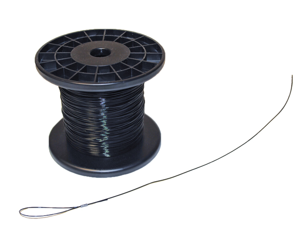 1000' spool BLACK coated airplane hang wire
