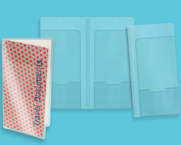Clear vinyl document wallet