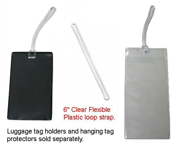 "6"" Clear flexible plastic loop strap"