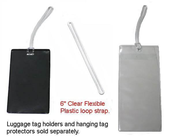 6 Quot Clear Flexible Plastic Loop Strap