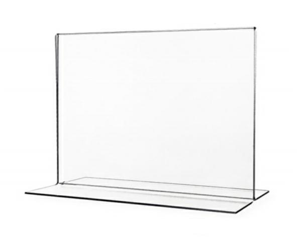 11 x 8 1/2 Bottom load T-frame print sign holder - Landscape