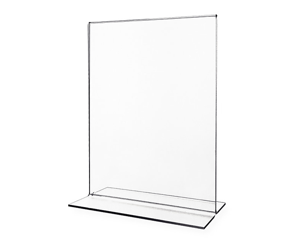8 1/2 x 11 Bottom load T-frame print sign holder - Portrait
