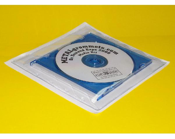 Adhesive EXPANDABLE CD Jewel Case Pouch