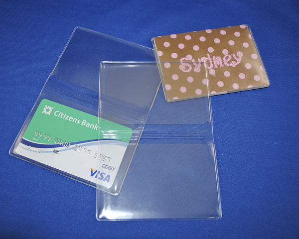 Clear business/debit/credit card wallet