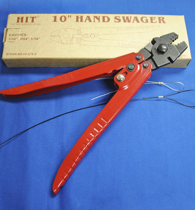 Three cavity hand swager crimping tool