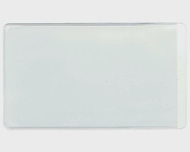 "3"" x 4 1/8"" clear pouch"