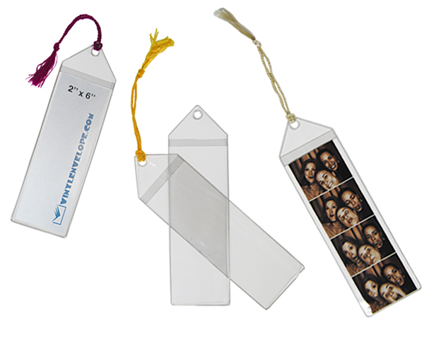 "2"" x 6"" Photo Strip & Bookmark Sleeve with hang hole"