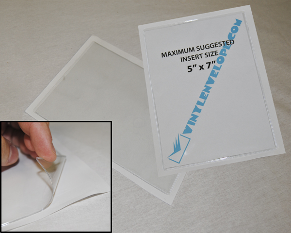 "5 1/4"" X 7 1/4"" Adhesive pouch"