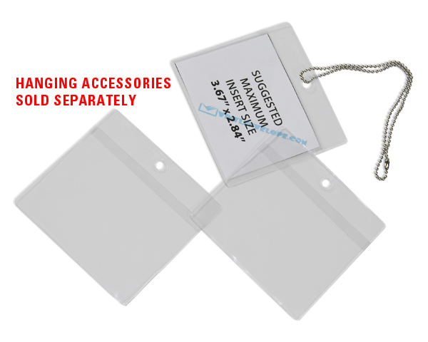 5 3 4 Quot X 9 1 2 Quot High Quality Clear Vinyl Hanging Tag