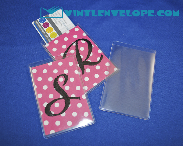Debit or Credit Card Sleeve w/ extra pocket for decorations