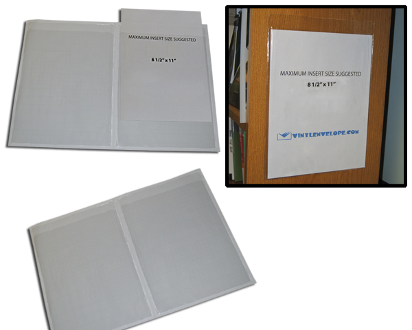 "9"" x 11 1/2"" press-on adhesive pouch"