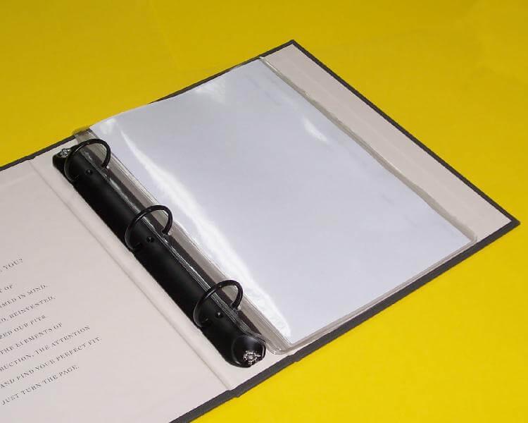 clear 5 1 2 x 8 1 2 mini binder page