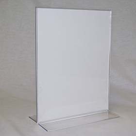 Bottom Load T Frame Acrylic Sign Holder For 8 12 X 11 Sign