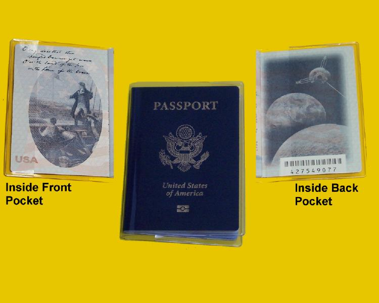 Clear vinyl passport wallet cover